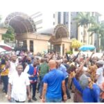 IPOB group protest at Federal High Court Abuja, demand release of their leader Nnamdi Kanu (video)
